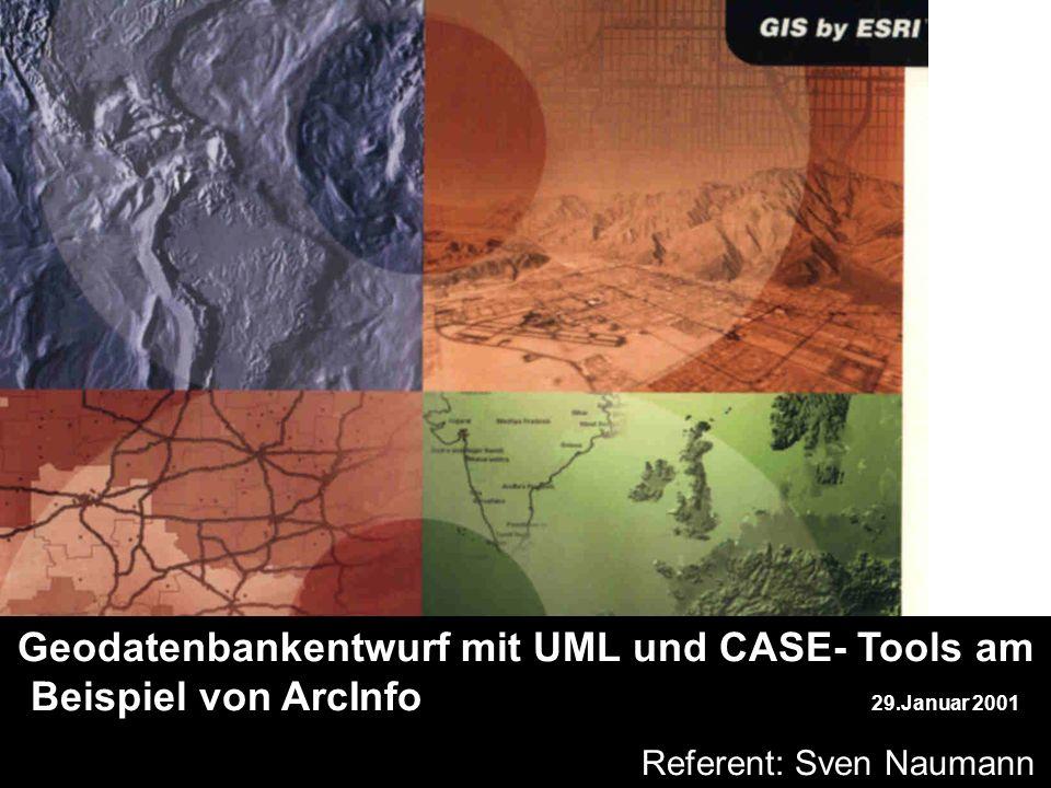 sdfg Geodatenbankentwurf mit UML und CASE- Tools am Beispiel von ArcInfo 29.Januar 2001 b Referent: Sven Naumann yxc jh