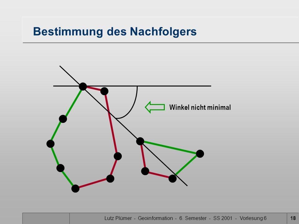 Lutz Plümer - Geoinformation - 6. Semester - SS 2001 - Vorlesung 617 Tangente
