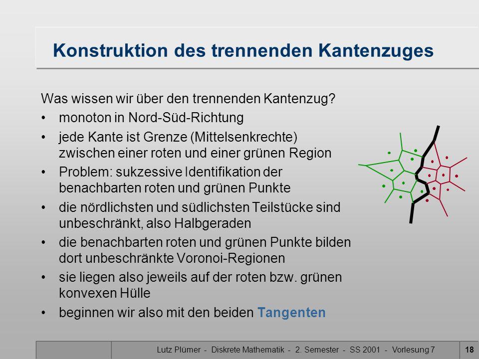 Lutz Plümer - Diskrete Mathematik - 2. Semester - SS 2001 - Vorlesung 717 Was ist das schwierigste Teilproblem? - Merge