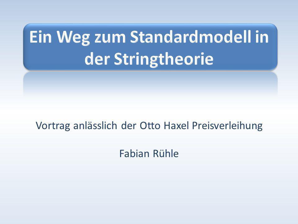 06.02.201012 Ein Weg zum Standardmodell in der Stringtheorie Fabian Rühle