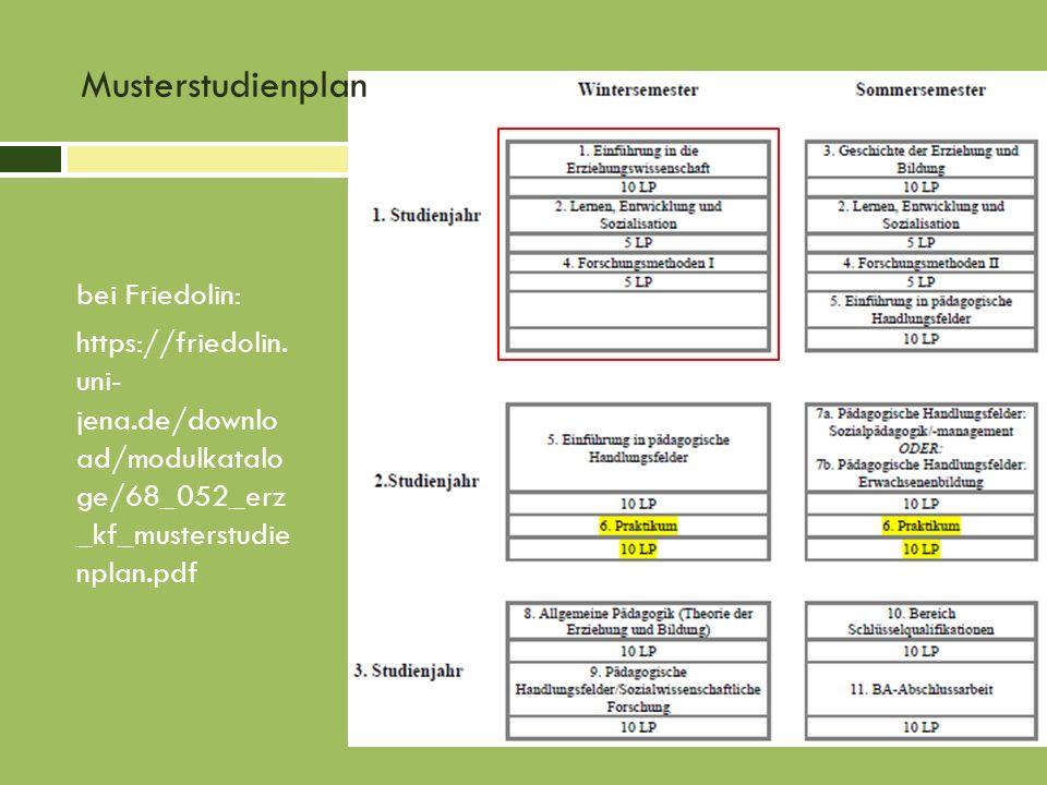 Musterstudienplan bei Friedolin: https://friedolin. uni- jena.de/downlo ad/modulkatalo ge/68_052_erz _kf_musterstudie nplan.pdf