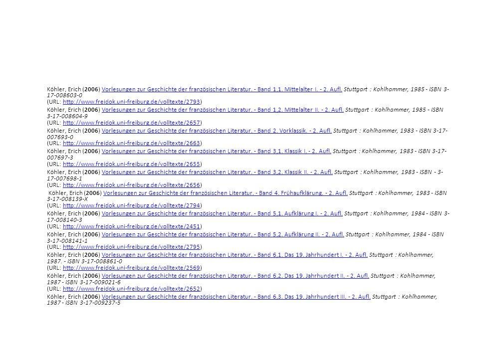 Internet-Buchhandlungen: www.amazon.fr BÜCHER AUS FRANKREICH FÜR KUNDEN IN DEUTSCHLAND http://www.parinfo.fr/ Wichtige Taschenbuchreihen: Folio classique GF classique