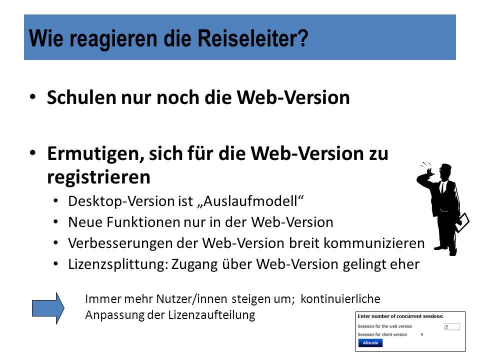 In Kürze erreichen wir… Seit Update Ende 2009 mehr Vorteile der Web-Version Einige Nutzer halten trotzdem an der bekannten Version fest.