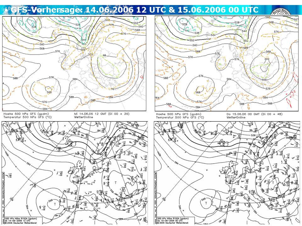 GFS-Vorhersage: 14.06.2006 12 UTC & 15.06.2006 00 UTC