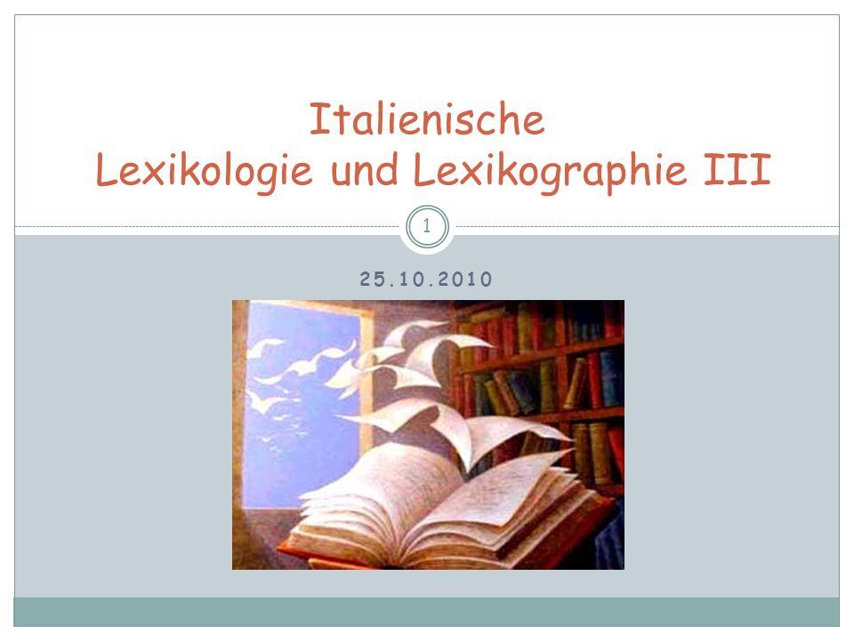 Die Lexikographie als Gegenstand der Linguistik 62 rückläufig alphabetisch