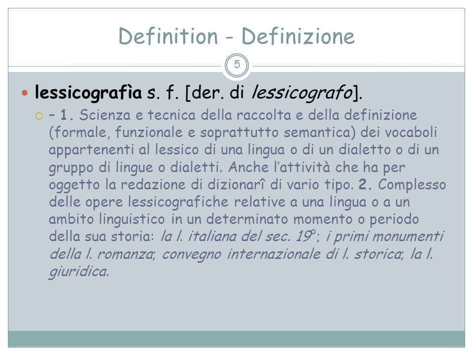 Definitionen Art der Definition? 66