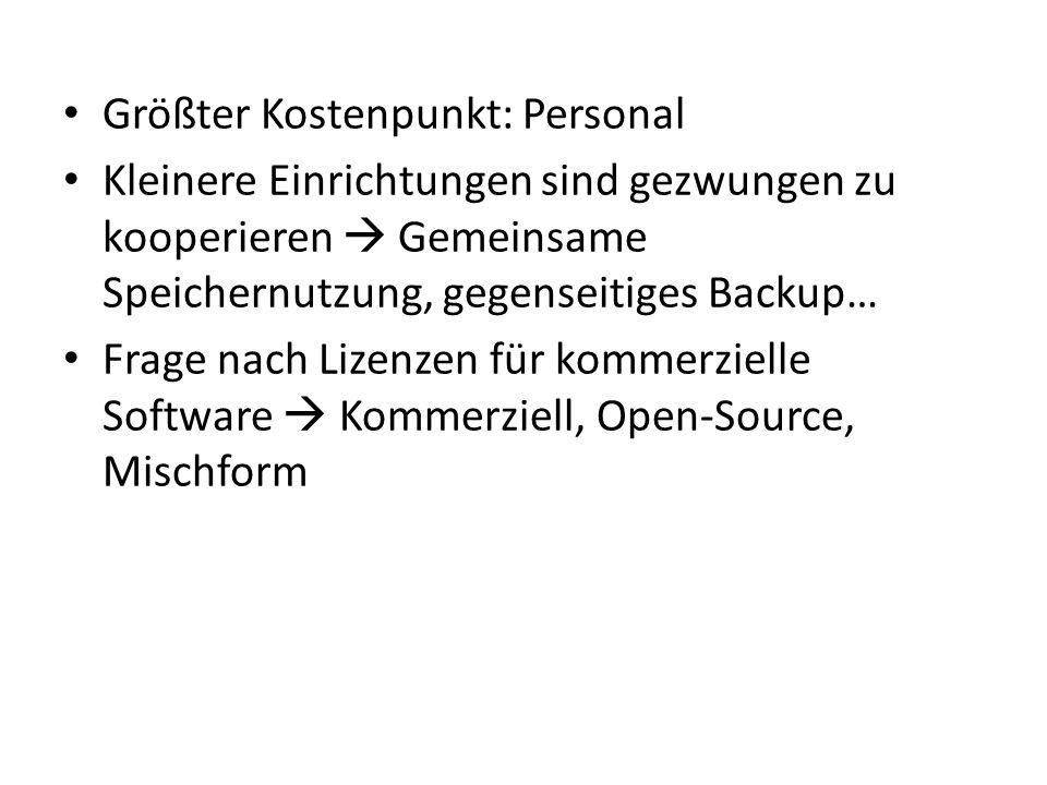 Die Institution stellt einen LZA-Service (nur) für digitale Dokumente aus eigenem Besitz bereit.