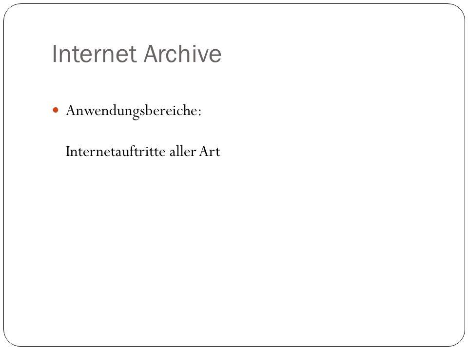 Anwendungsbereiche: Internetauftritte aller Art