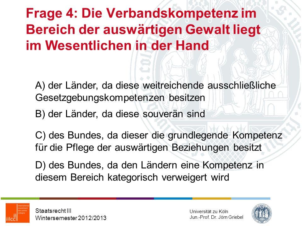Frage 3: Welches der nachfolgenden Motive hat das BVerfG im Hinblick auf seinen konventionsfreundlichen Ansatz bei der Berücksichtigung der EMRK-Gewäh