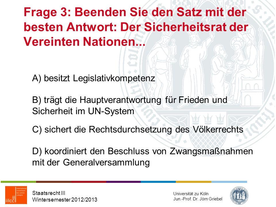 Frage 2: Welche gesondert geregelte Gewährleistung kennt die EMRK, nicht aber das GG Staatsrecht III Wintersemester 2012/2013 Universität zu Köln Jun.