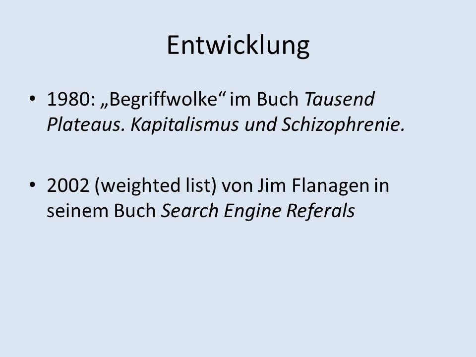 Entwicklung 1980: Begriffwolke im Buch Tausend Plateaus.