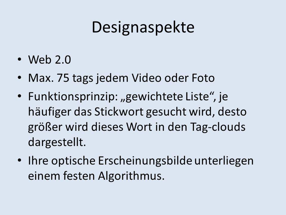 Designaspekte Web 2.0 Max.