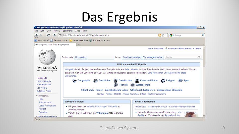 Das Ergebnis Client-Server Systeme9