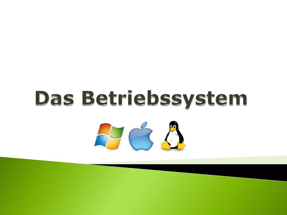 Software, die den Betrieb des Computers ermöglicht Stellt Systemressourcen zur Verfügung VERWALTERKOORDINATOR