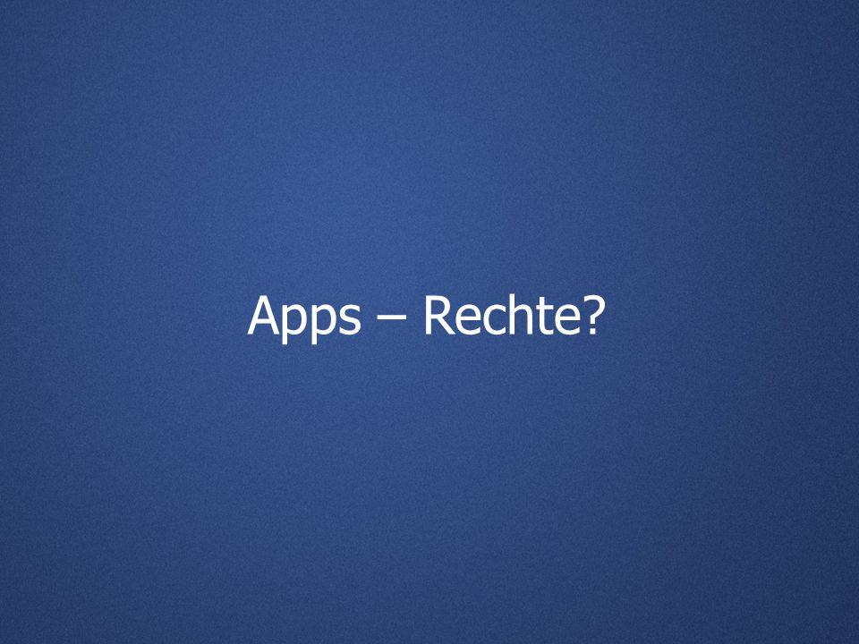 Apps – Rechte?