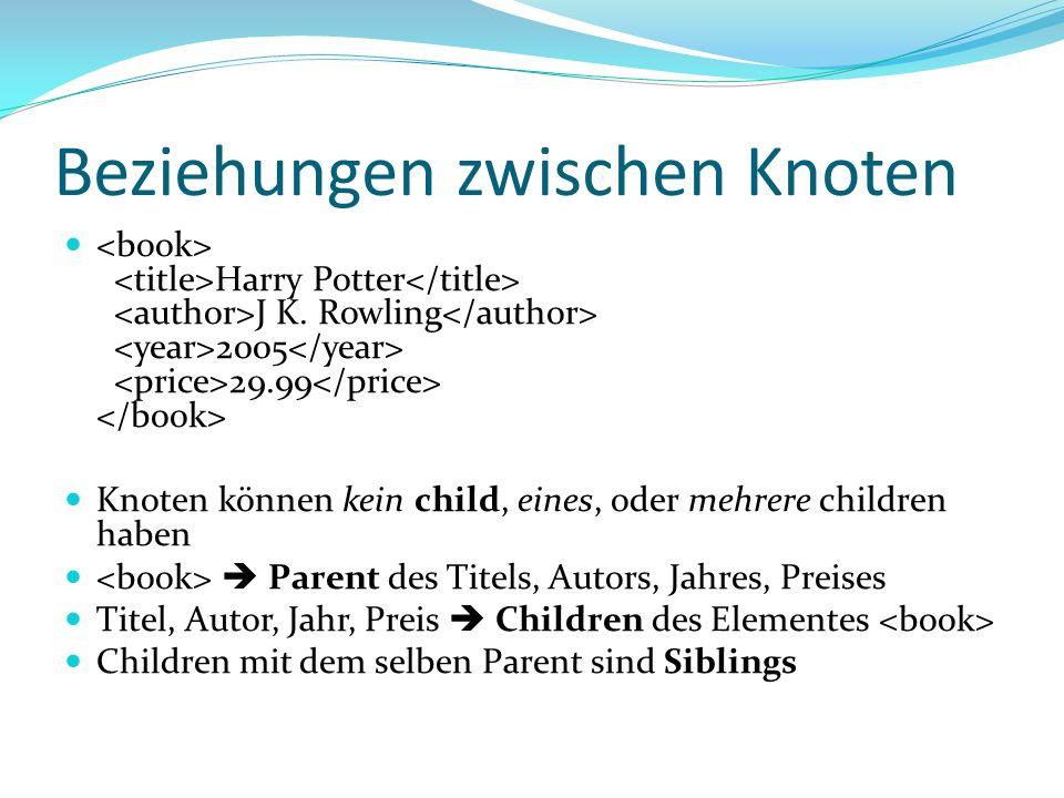 Beziehungen zwischen Knoten Harry Potter J K.