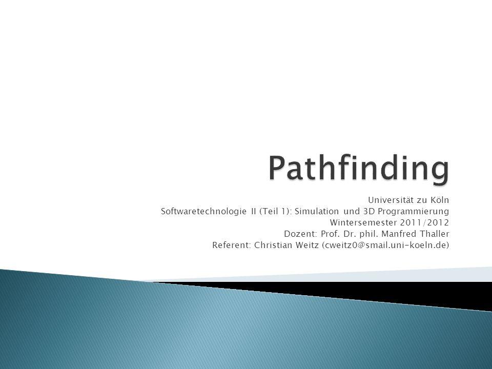 Universität zu Köln Softwaretechnologie II (Teil 1): Simulation und 3D Programmierung Wintersemester 2011/2012 Dozent: Prof.