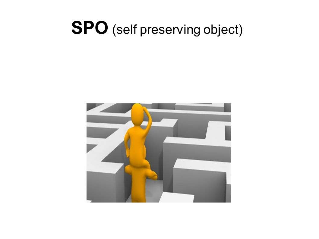 Lösungsansatz: SPO (self preserving object)