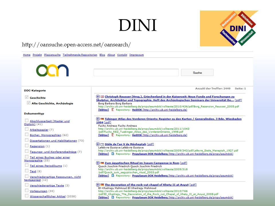 DINI http://oansuche.open-access.net/oansearch/