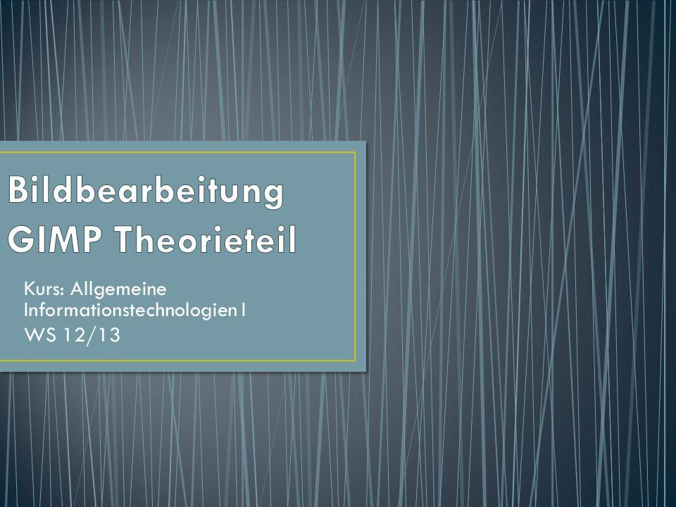 Kurs: Allgemeine Informationstechnologien I WS 12/13