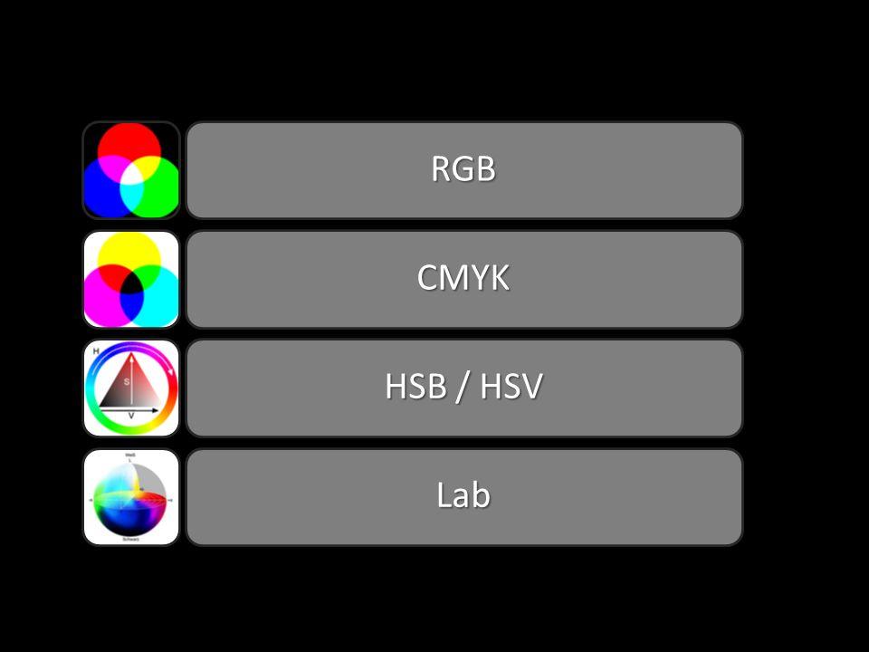 RGB CMYK HSB / HSV Lab