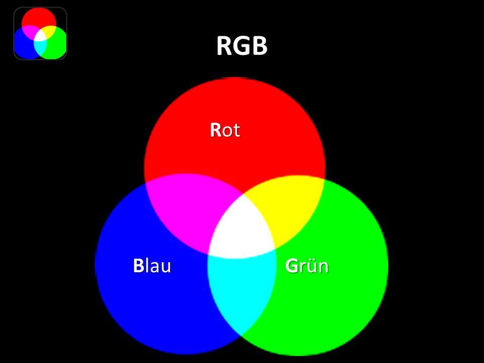 RGB Grün Rot Blau