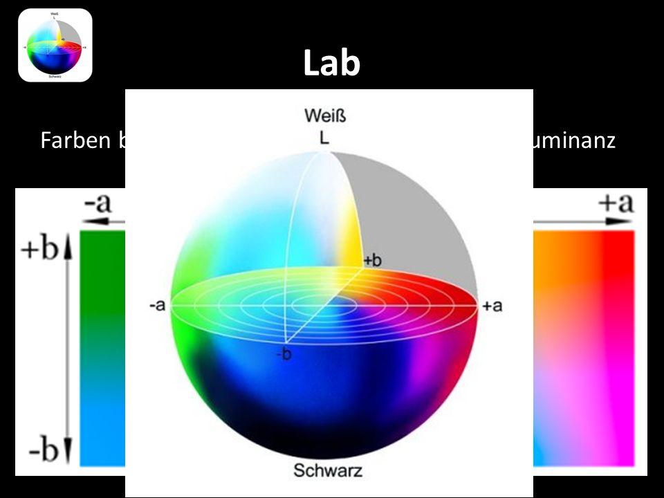 Lab Farben bei 50 % Luminanz Farben bei 75 % Luminanz