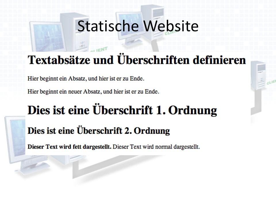Statische Website