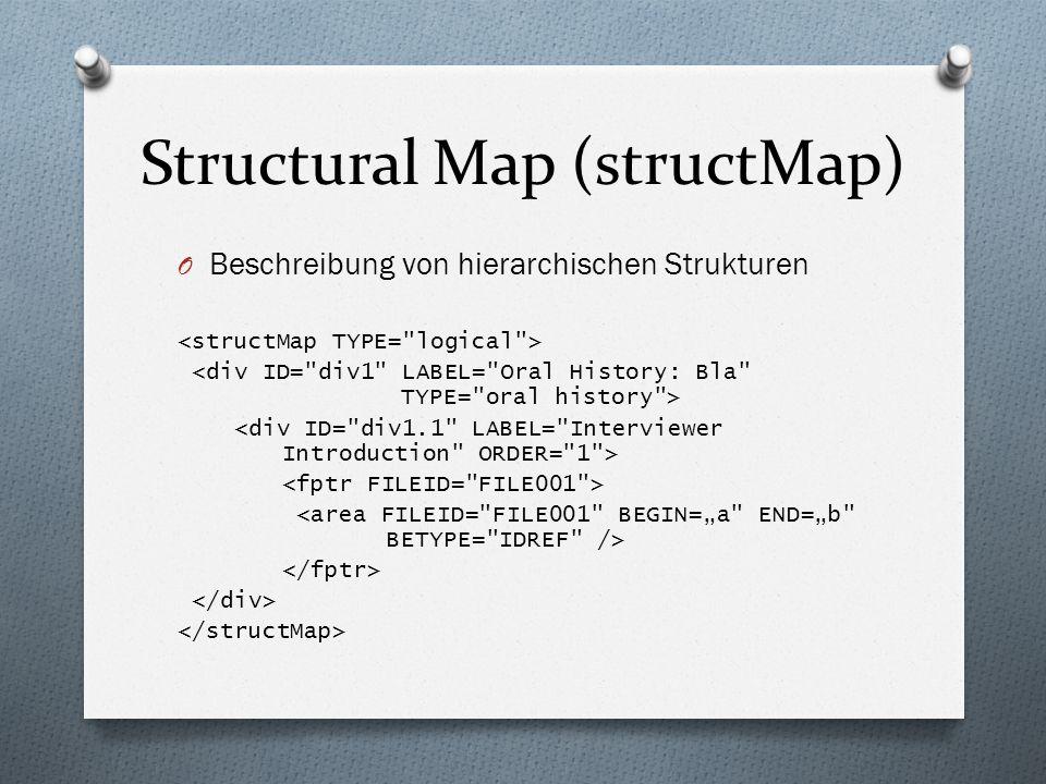 Structural Map (structMap) O Beschreibung von hierarchischen Strukturen