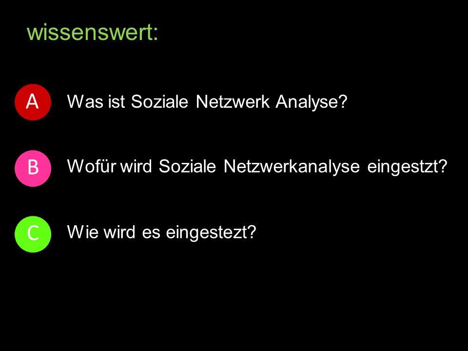 wissenswert: Was ist Soziale Netzwerk Analyse. Wofür wird Soziale Netzwerkanalyse eingestzt.