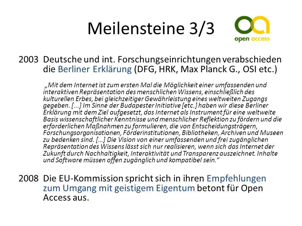Meilensteine 3/3 2003Deutsche und int.