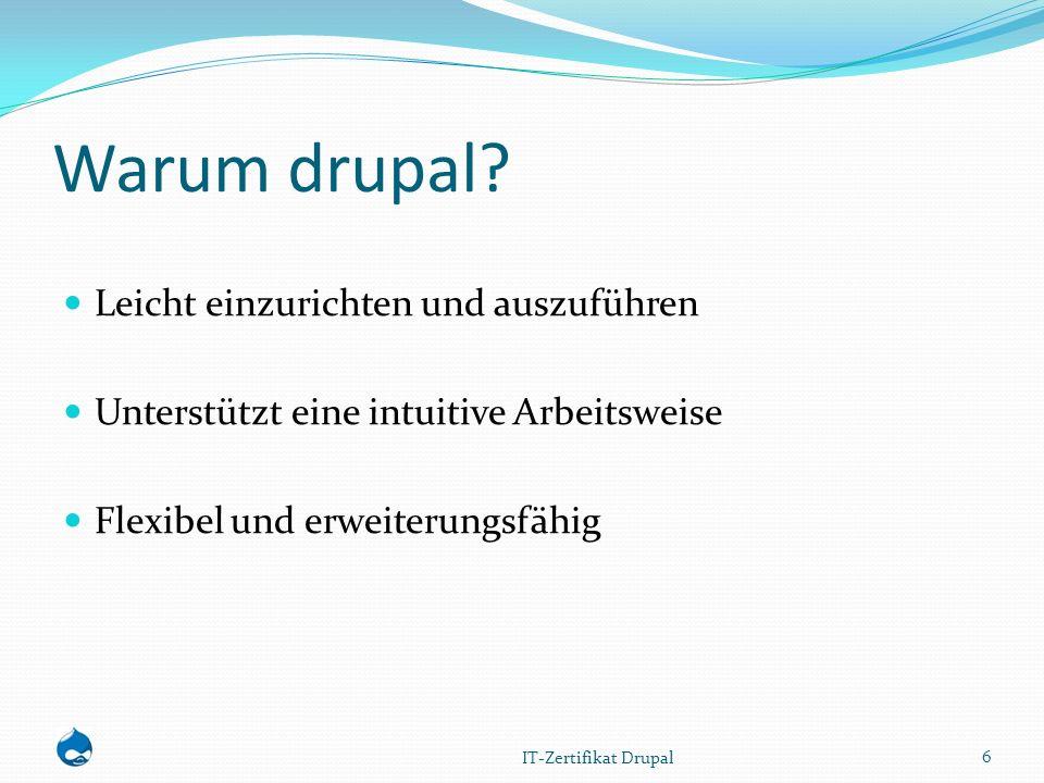 Installation 1 1.Download der Datei von www.drupalcenter.dewww.drupalcenter.de 1.