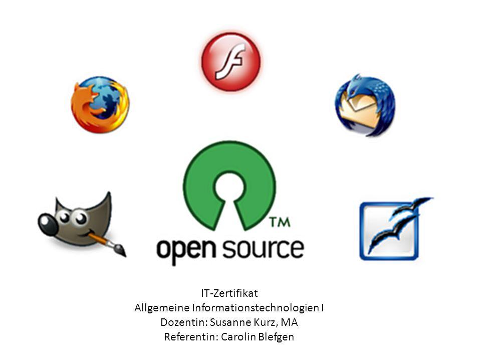 Open Source ist eine Palette von Lizenzen für Software Öffentlicher Quelltext Fördert Weiterentwicklungen