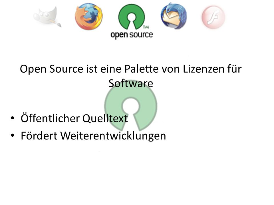 Open source is a development method for software that harnesses the power of distributed peer review and transparency of process.