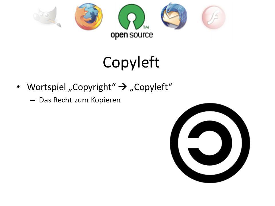 Wortspiel Copyright Copyleft – Das Recht zum Kopieren Copyleft