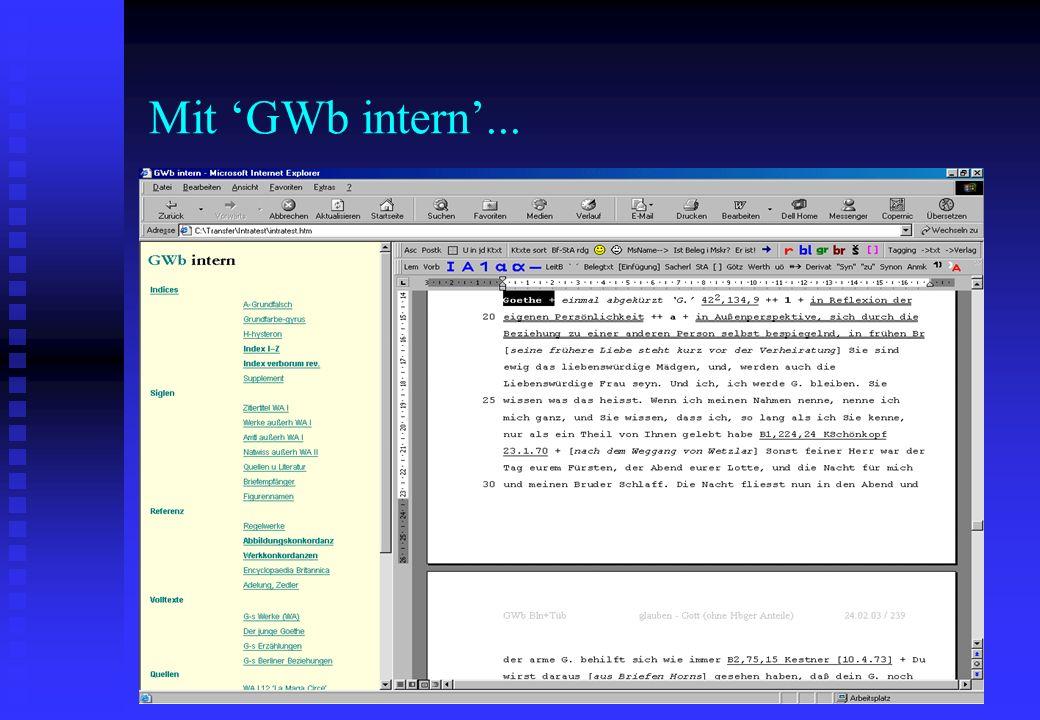 Mit GWb intern...