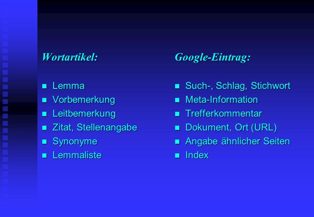 Thesaurus vs.Index n Deutsches Wb n Adelung, Heyne, Paul 19.
