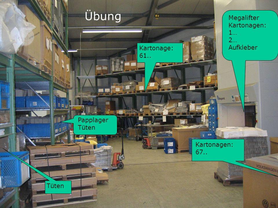 Kasseler Werkstatt Februar 2009 Information Volker Alberding Tüten Papplager Tüten Kartonage: 61.. Megalifter Kartonagen: 1… 2… Aufkleber Kartonagen: