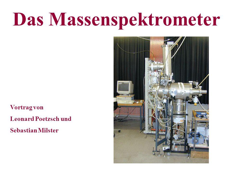 Das Massenspektrometer Vortrag von Leonard Poetzsch und Sebastian Milster