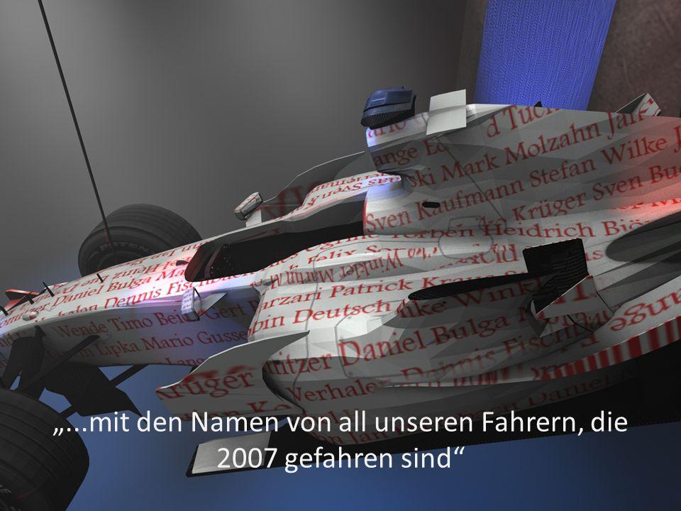 ...mit den Namen von all unseren Fahrern, die 2007 gefahren sind