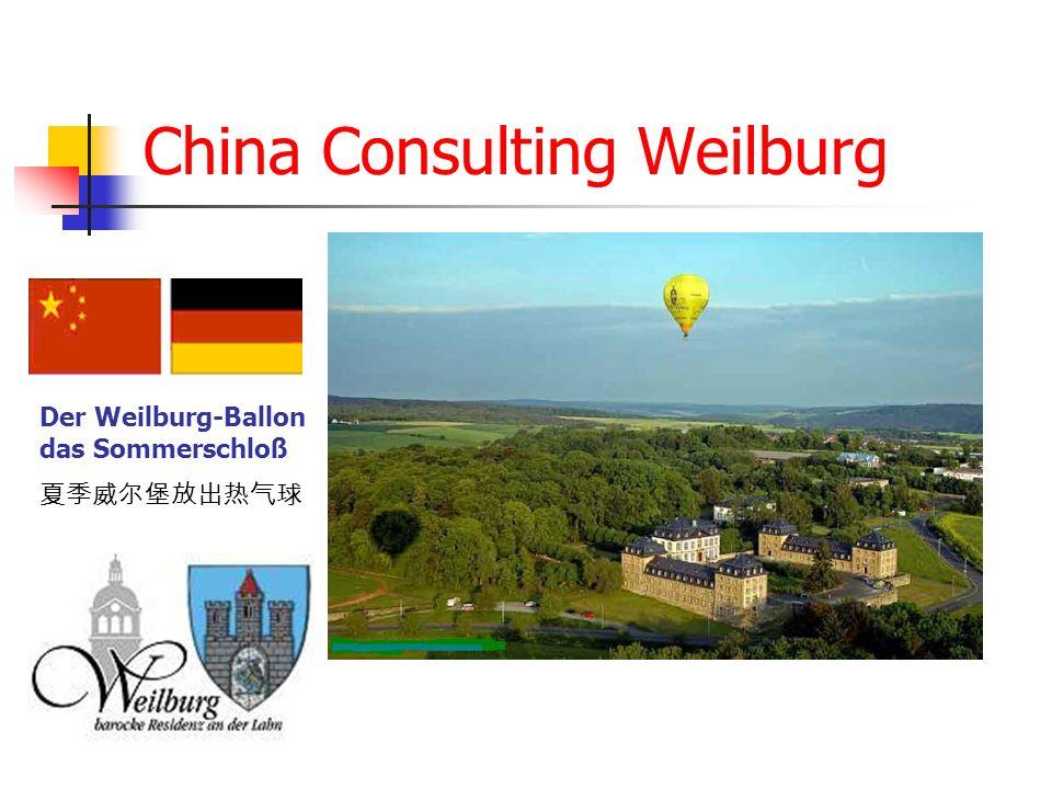 China Consulting Weilburg Der Weilburg-Ballon das Sommerschloß