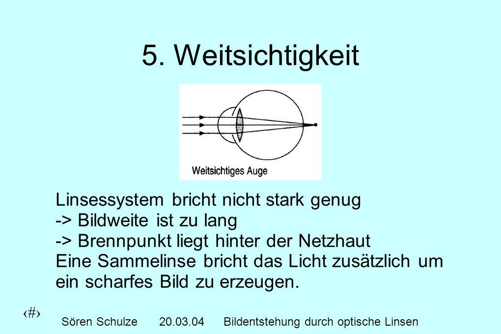 8 Sören Schulze20.03.04Bildentstehung durch optische Linsen 5.