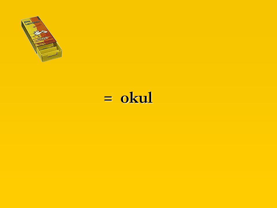 Übrigens: türkisch für Schule...