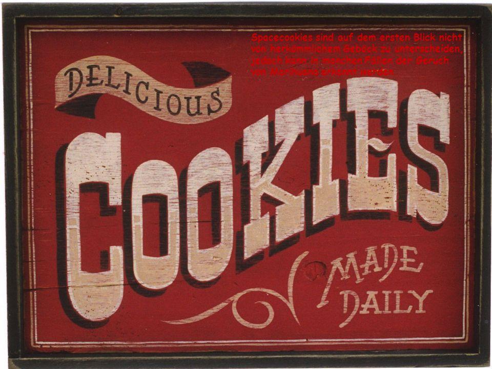 Spacecookies sind auf dem ersten Blick nicht von herkömmlichem Gebäck zu unterscheiden, jedoch kann in manchen Fällen der Geruch von Marihuana erkannt werden.