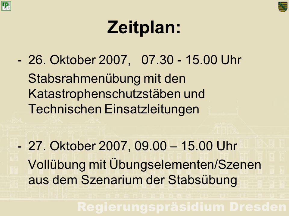 Szenario: Seit Anfang September 2007 herrscht im mitteleuropäischen Raum allgemein trockenes Wetter vor.