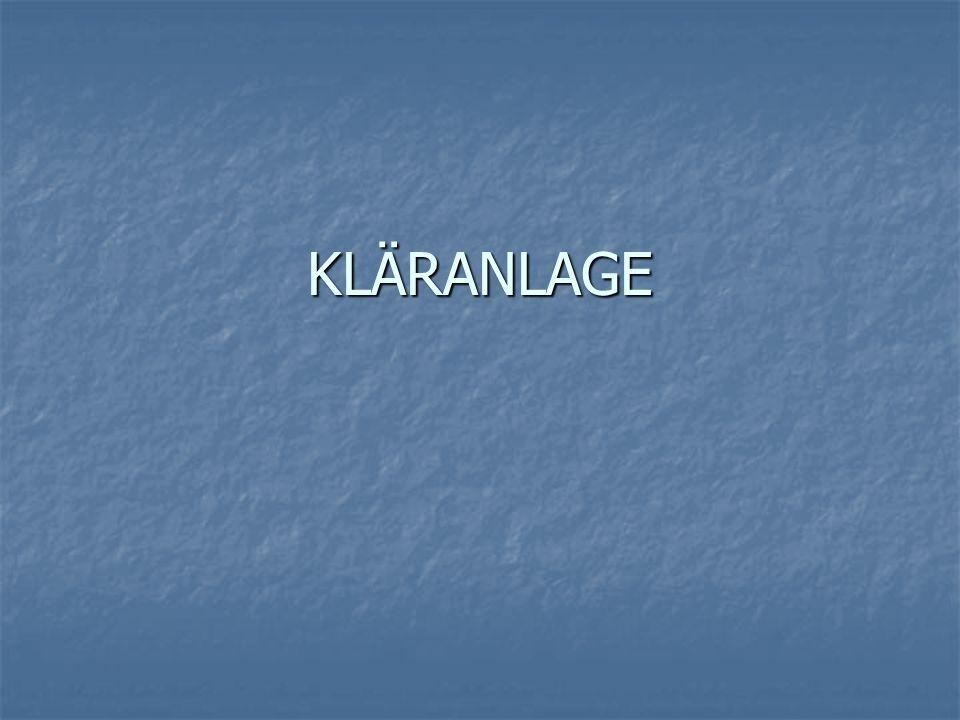 KLÄRANLAGE