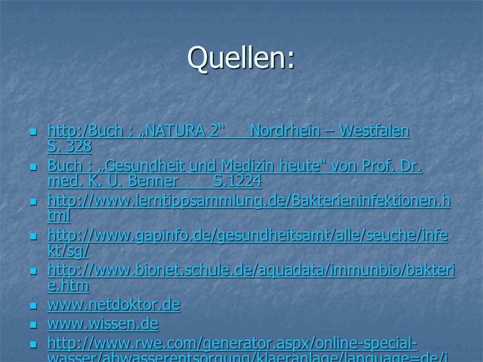 Quellen: http:/Buch : NATURA 2 Nordrhein – Westfalen S.