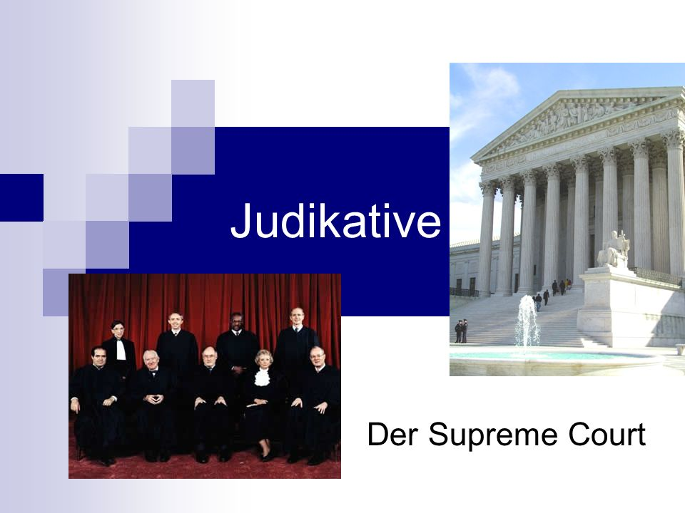 Judikative Der Supreme Court