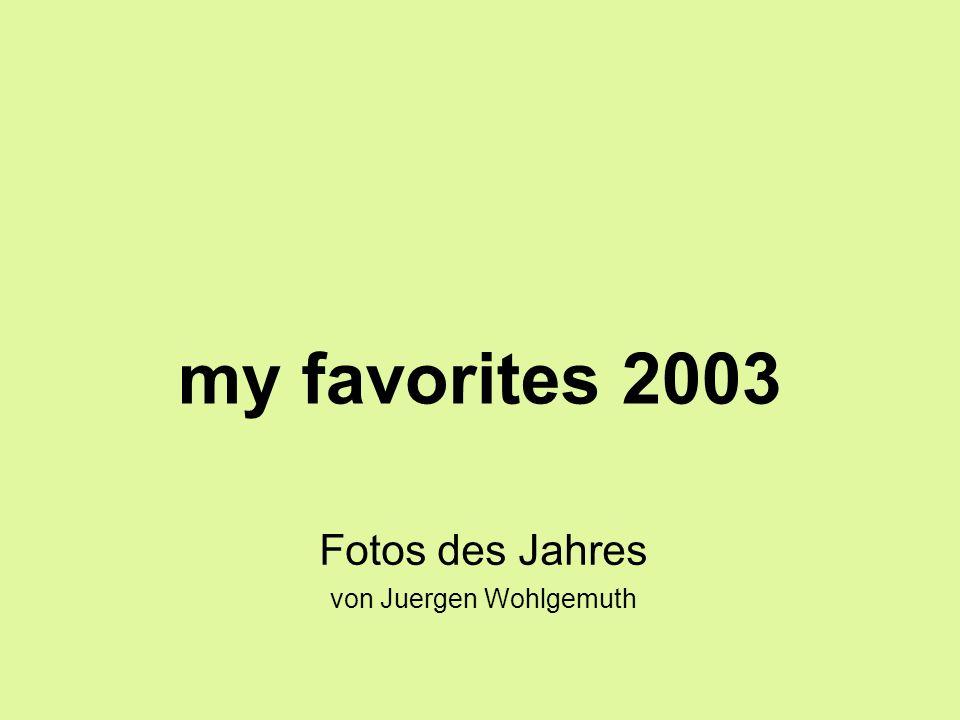 my favorites 2003 Fotos des Jahres von Juergen Wohlgemuth