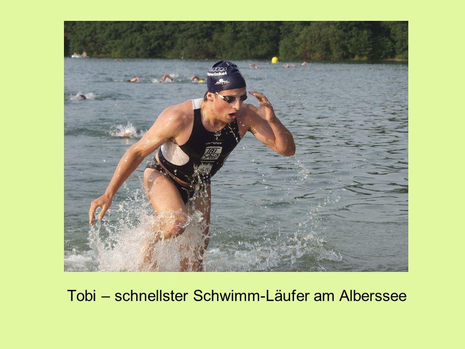 Tobi – schnellster Schwimm-Läufer am Alberssee